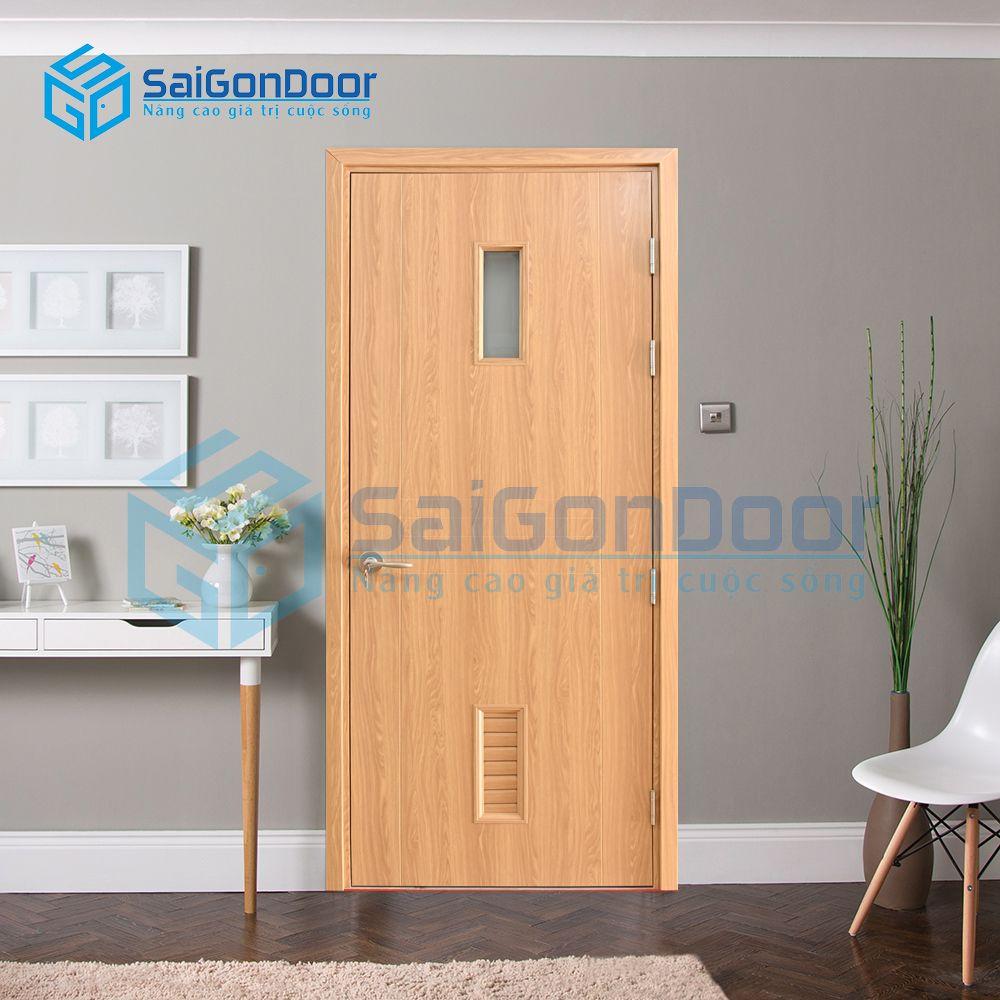 Cửa nhựa phòng ngủ cách âm SYB.656-B06