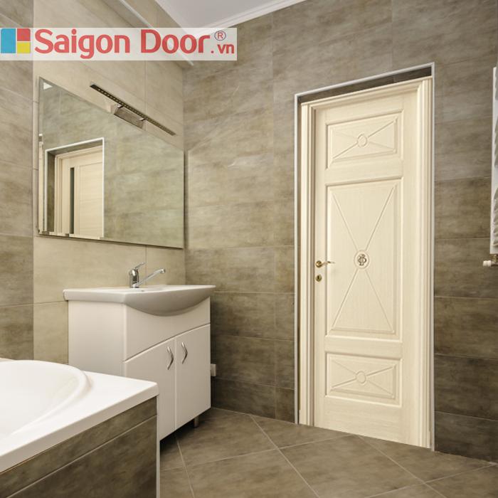 Thiết kế ấn tượng, sang trọng của mẫu cửa gỗ nhà vệ sinh